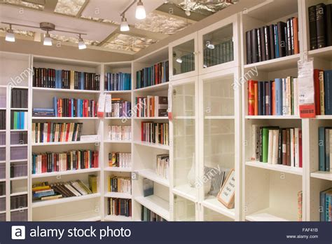 billy bookcases on display at ikea furniture store at