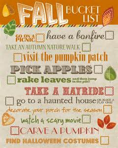 fall bucket list free printable how to nest for less