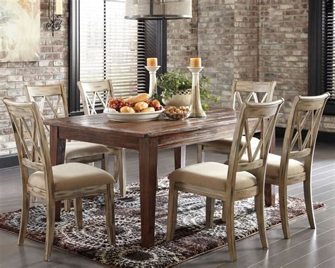 Dining Room Table With Sofa Seating Brown Rustic Dining Set Chicago Furniture Stores
