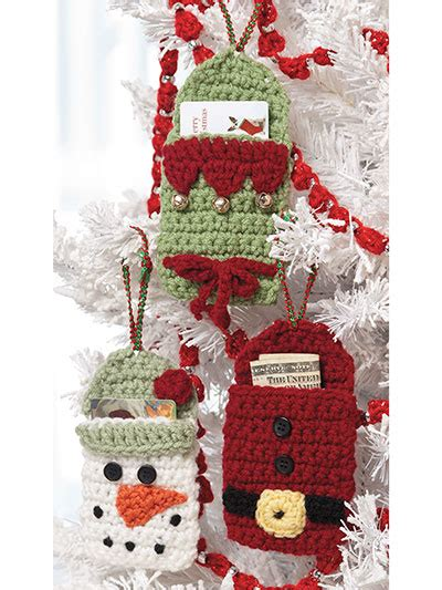 Crochet Christmas Gift Card Holder - craftdrawer crafts what s hot right now in crochet patterns for the holidays