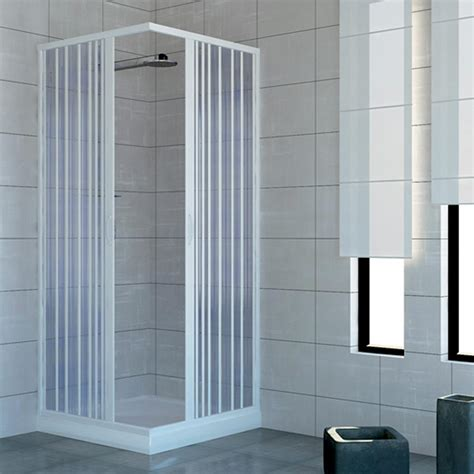Plastic Folding Shower Doors Shower Enclosure Walk In Quadrant Cubicle Plastic Pvc Folding Doors 14 Colours Ebay