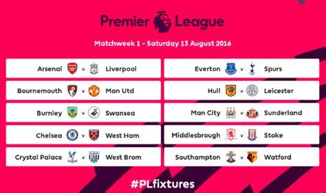 Calendario Liverpool Premier League Calendario 2016 2017 Subito Arsenal