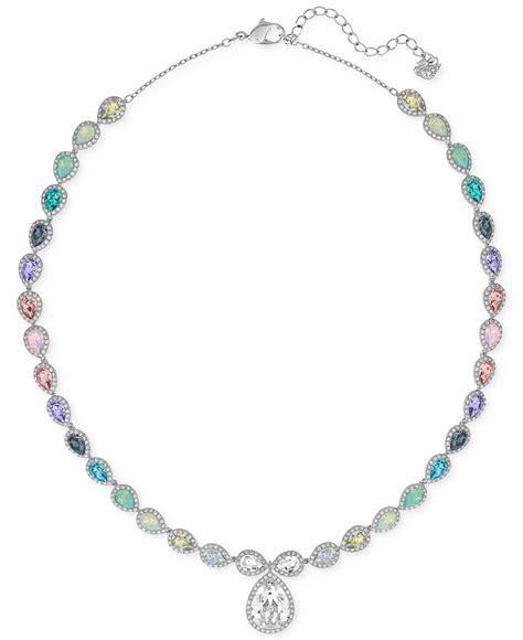 Necklace Pegasus Swarovski Silver Rhodium swarovski caption rhodium tone all around necklace in multicolor lyst