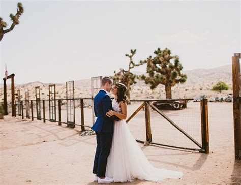 Wedding Ceremony Joshua Tree by Southwestern Joshua Tree Wedding Inspired By This