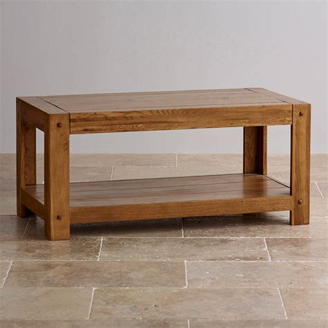 Quercus Coffee Table In Rustic Solid Oak Oak Furniture Land Oak Coffee Table