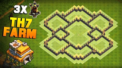 clash of clans th7 farming base best town hall 7 defense strategy clash of clans new town hall 7 th7 farming base best