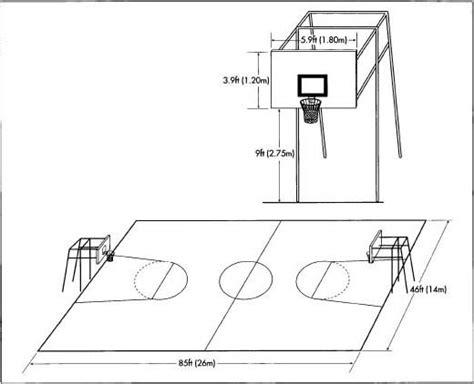 gambar sketsa lapangan bola basket kurniawaniqbal