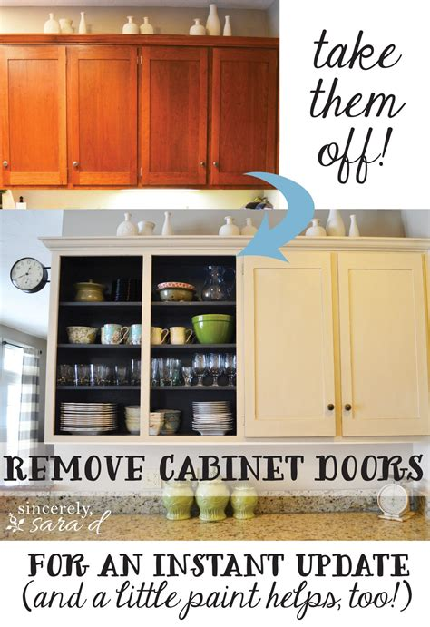 remove kitchen cabinet doors remove cabinet doors instant kitchen update sincerely