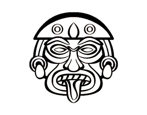 aztec mask template mayan mask coloring pages