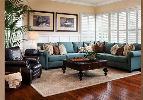 pictures of family rooms with sectionals beautiful paula deen cookware in family room contemporary