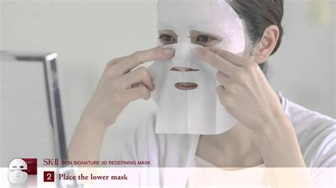 Sk2 3d Mask sk ii skin signature 3d redefining mask how to use