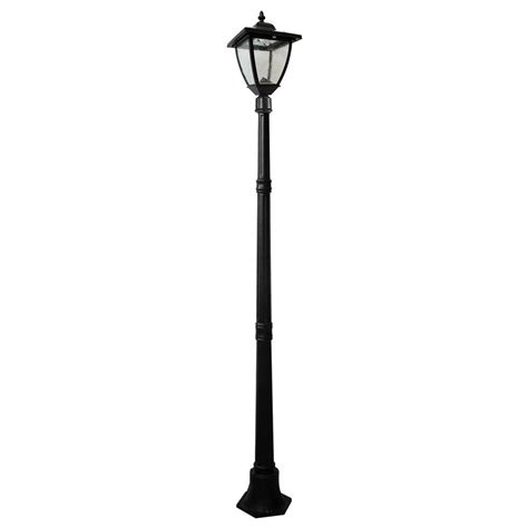 Outdoor Electric Light Post Nature Power Bayport 72 In Outdoor Black Solar L Post With Bright White Led