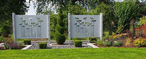Sichtschutzelemente Garten sichtschutz aus metall ganz individuell tiko metalldesign