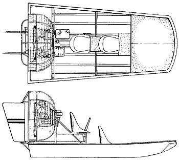 airboat drawings small watercraft