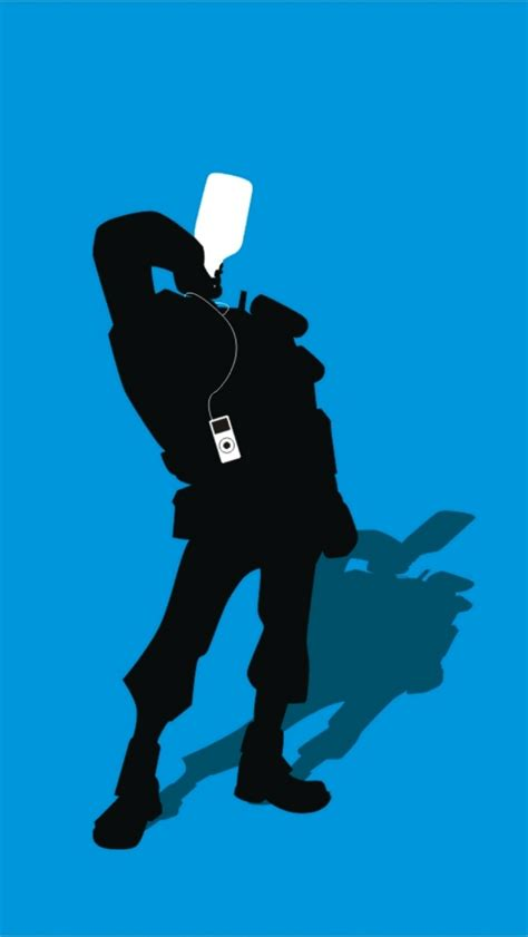 01032b Silhoutte Ii Blue tf2 blue demoman silhouette earbuds for iphone5 by