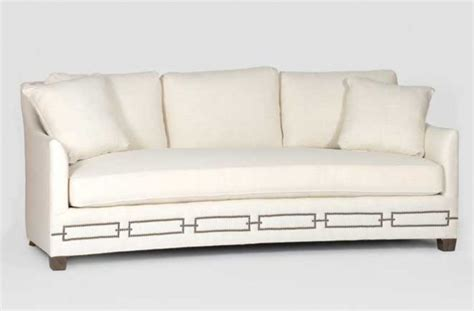 Curved Front Sofa Transitional Couch Baldwin Sofa Curved Front Sofa