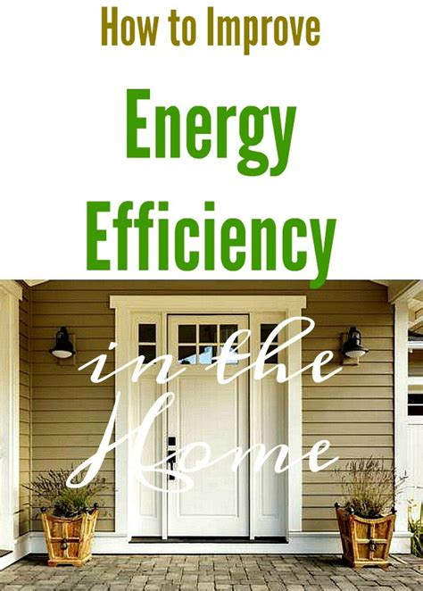 how to improve energy efficiency in the home