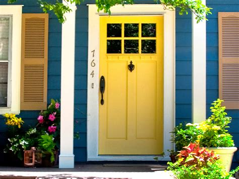 Exterior Front Door Colors Small House Exterior Colors Home Garden Design