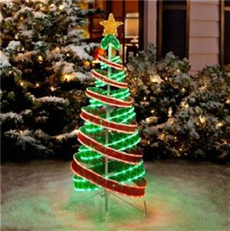 out door ribbon spursl trees 4 foot lighted outdoor green light ribbon tree decor ebay