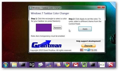 how to change taskbar color change your windows 7 taskbar color the easy way and