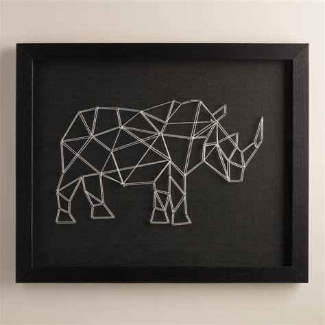 String Wall Decor - geo rhino string wall by christine tong world market