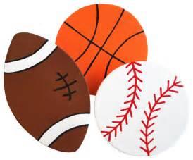 Sports balls quilt clips set of 3 baseball basketball football