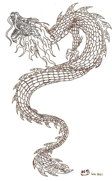 dragon tattoo outline designs outline japanese www pixshark images