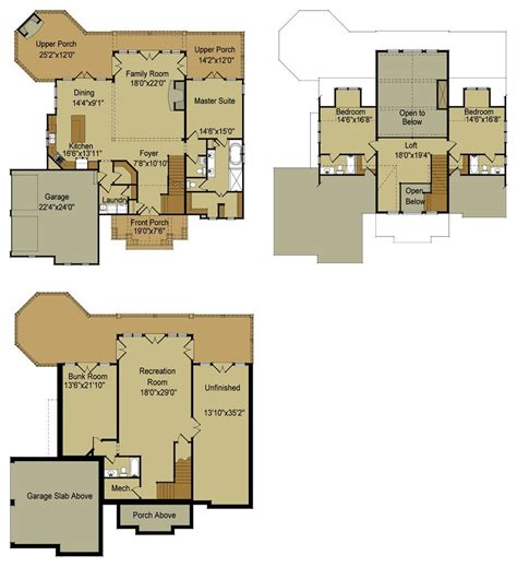 house floor plans with walkout basement ranch