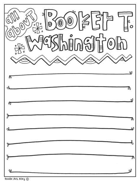 coloring pages booker t washington booker t washington coloring pages classroom doodles
