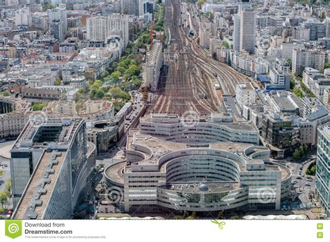 De Montparnasse Its Time by Paysage D Antenne De Vue De Gare De Montparnasse De