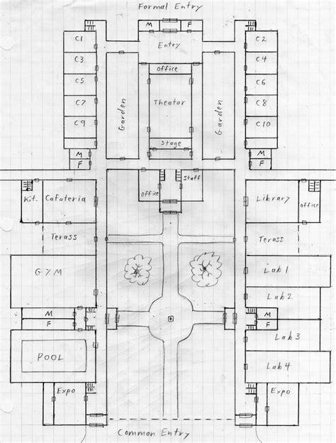 4 Room Flat Floor Plan by Anime Rpg 2030 Map
