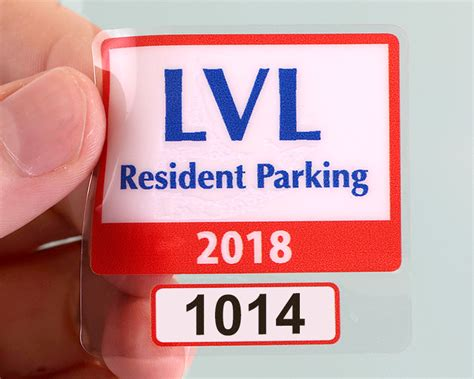 How To Remove Parking Permit Sticker custom parking permit stickers