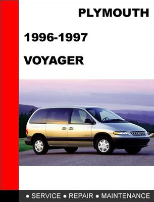 plymouth voyager 1996 1997 service repair manual download manuals