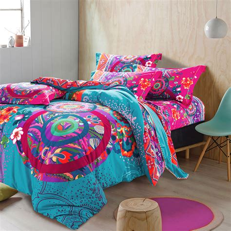 bohemian bed set hot selling colorful bohemian duvet covers elegant