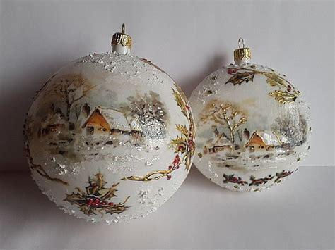 christmas balls decoupage joannay handmade by joannay