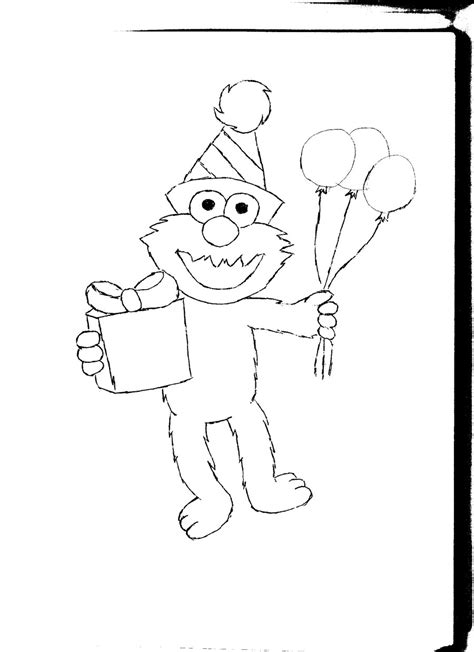 elmo coloring pages happy birthday free printable elmo coloring pages for kids