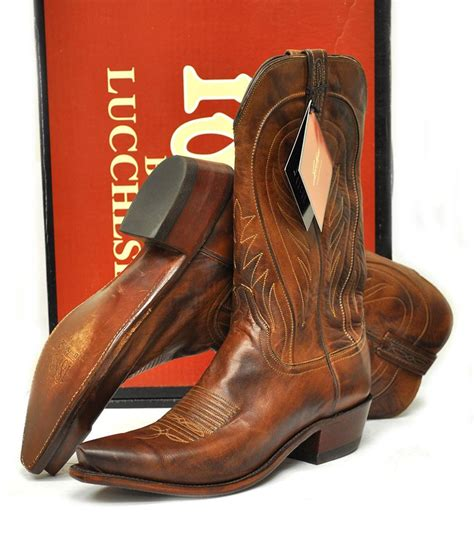 mens cowboy boots made in usa new lucchese 1883 mens cowboy boots n1596 burnished ranch