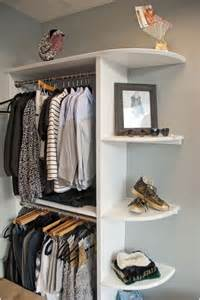 shelves for clothes in bedroom 10 cool and clever diy corner closet ideas