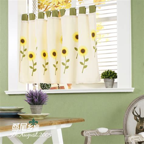 sunflower kitchen curtain compare prices on sunflower kitchen curtains