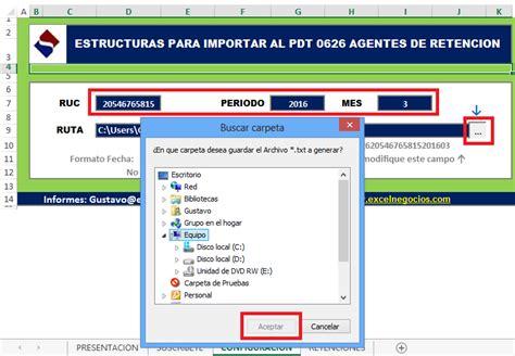 macros para leer archivos de texto automatizacin excel estructuras para importar al pdt 0626 agentes de retencion