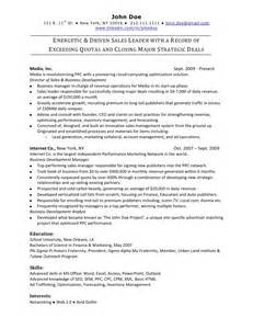 Free Sles Of Resumes For by Sales Resume Sle