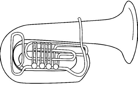 wind instruments coloring pages the gallery for gt tuba sketch