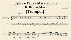 Uptown funk mark ronson ft bruno mars trumpet sheet music by mmc