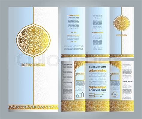 Modern Home Layouts Vintage Islamic Style Brochure And Flyer Design Template