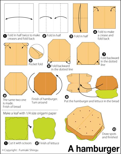 How To Make A Paper Hamburger - diagram