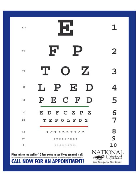 printable eye chart with instructions eye chart 6 free templates in pdf word excel download