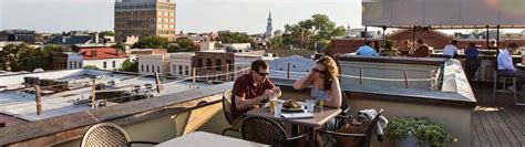 roof top bar charleston where to dine outdoors in charleston sc things to do in