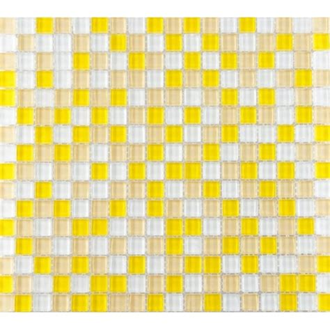 Wholesale mosaic tile crystal glass backsplash washroom design bathroom wall floor tiles yellow