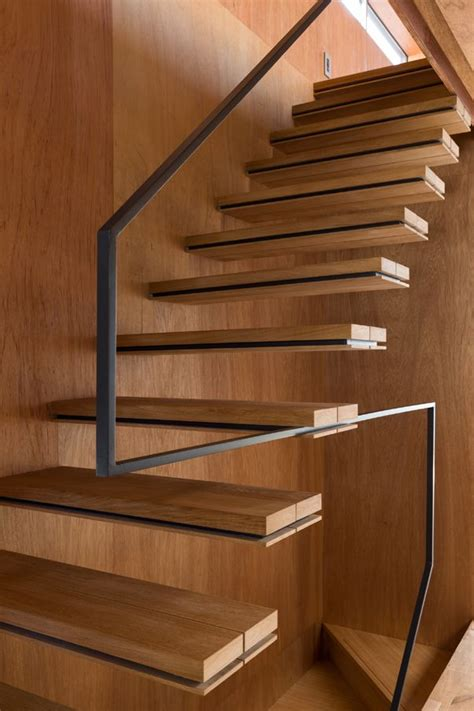 nord a minimalist japanese house inspired by religious stair to open loft cantilever treads minimal