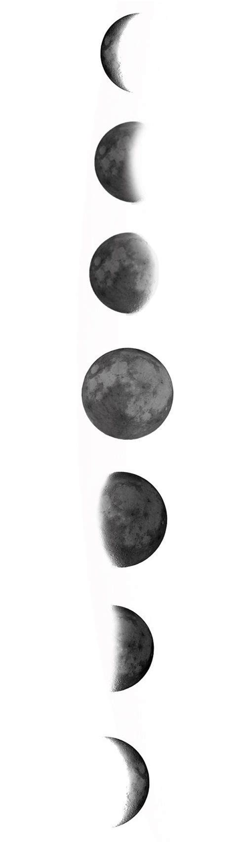 phases of the moon tattoo vertical moon phases search tattoos
